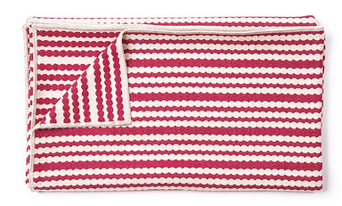 Scallop Stripe Throw Raspberry