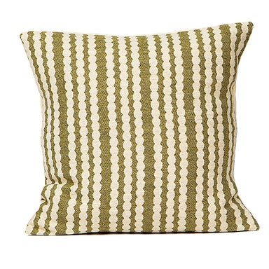 Scallop Stripe Cushion Sage