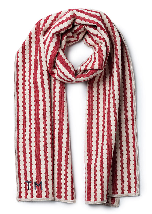 Broadway Reversible Merino Wool Scarf Linen & Mushroom