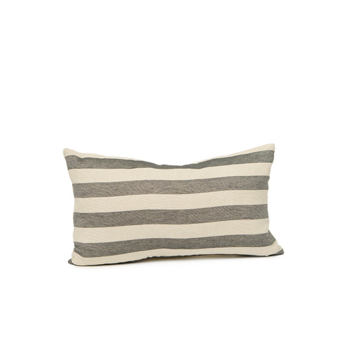 Everyday Stripe Cushion Black