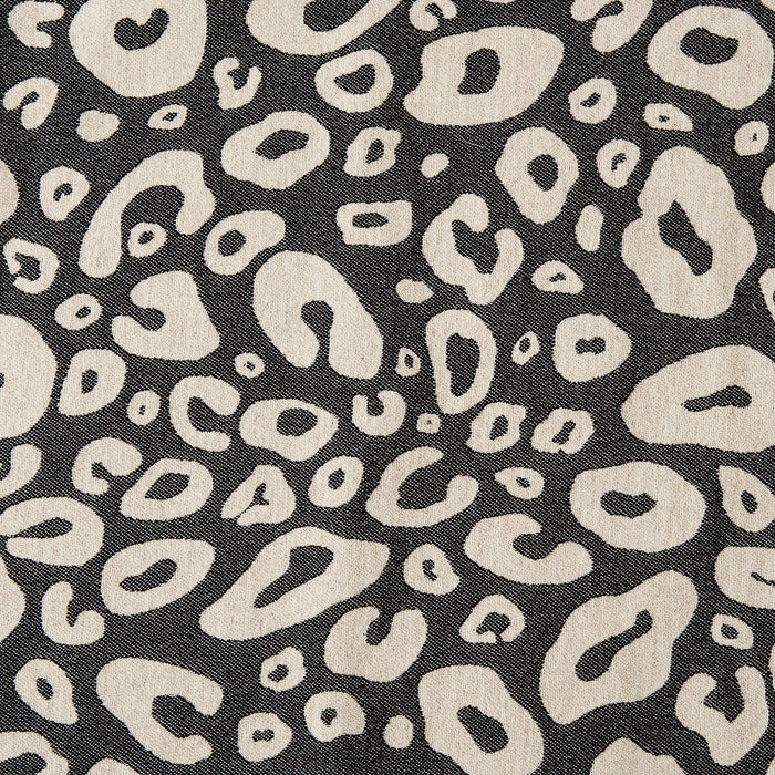 Merino Lambswool Fabric | Hamilton Small Spot Fabric black and linen