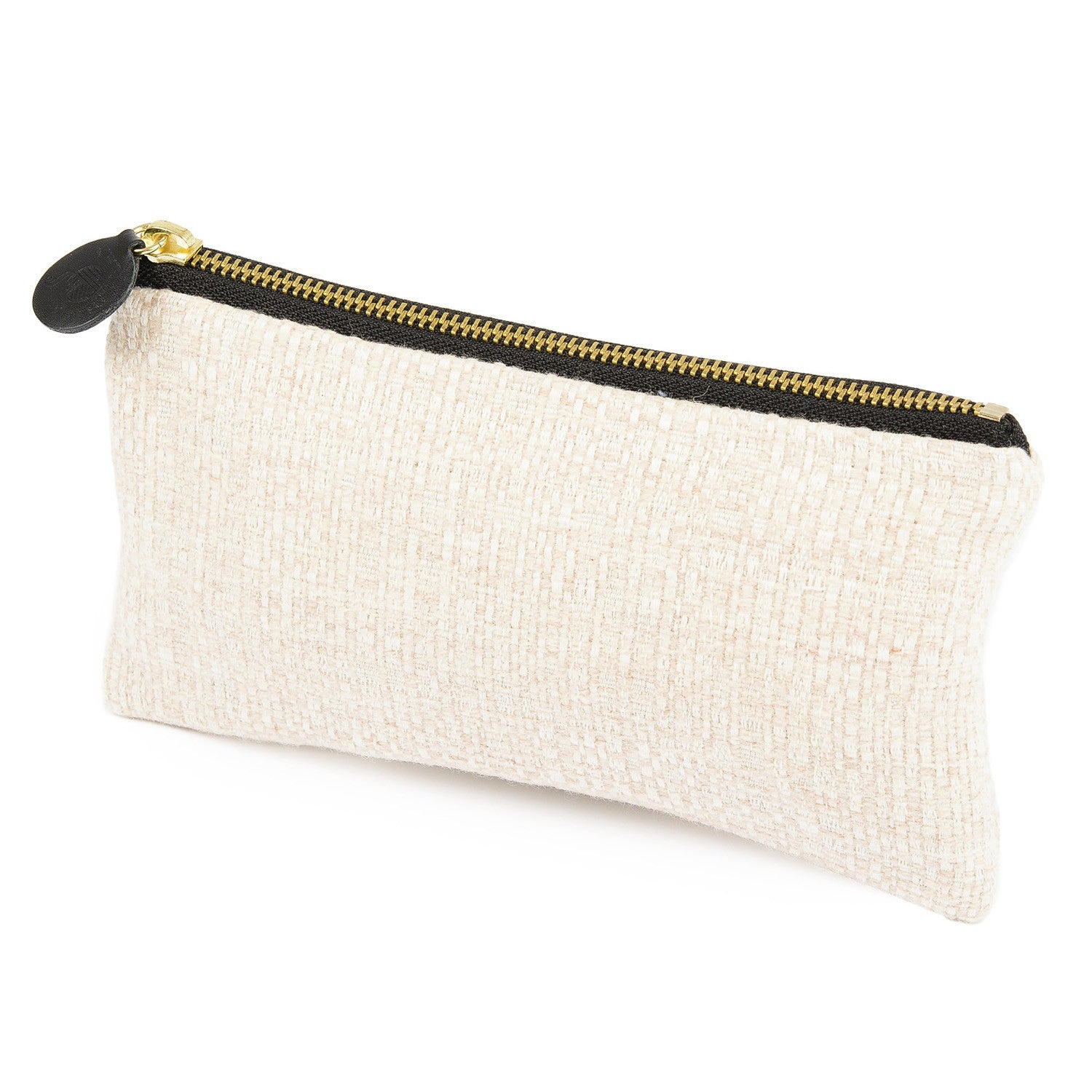 Merino Lambswool Zip Purse - Cove Ecru - Tori Murphy Ltd