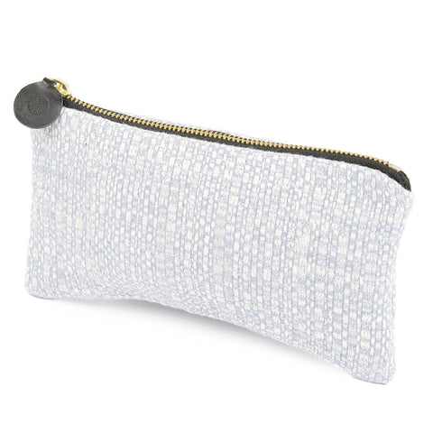 Merino Lambswool Zip Purse - Cove Smoke - Tori Murphy Ltd