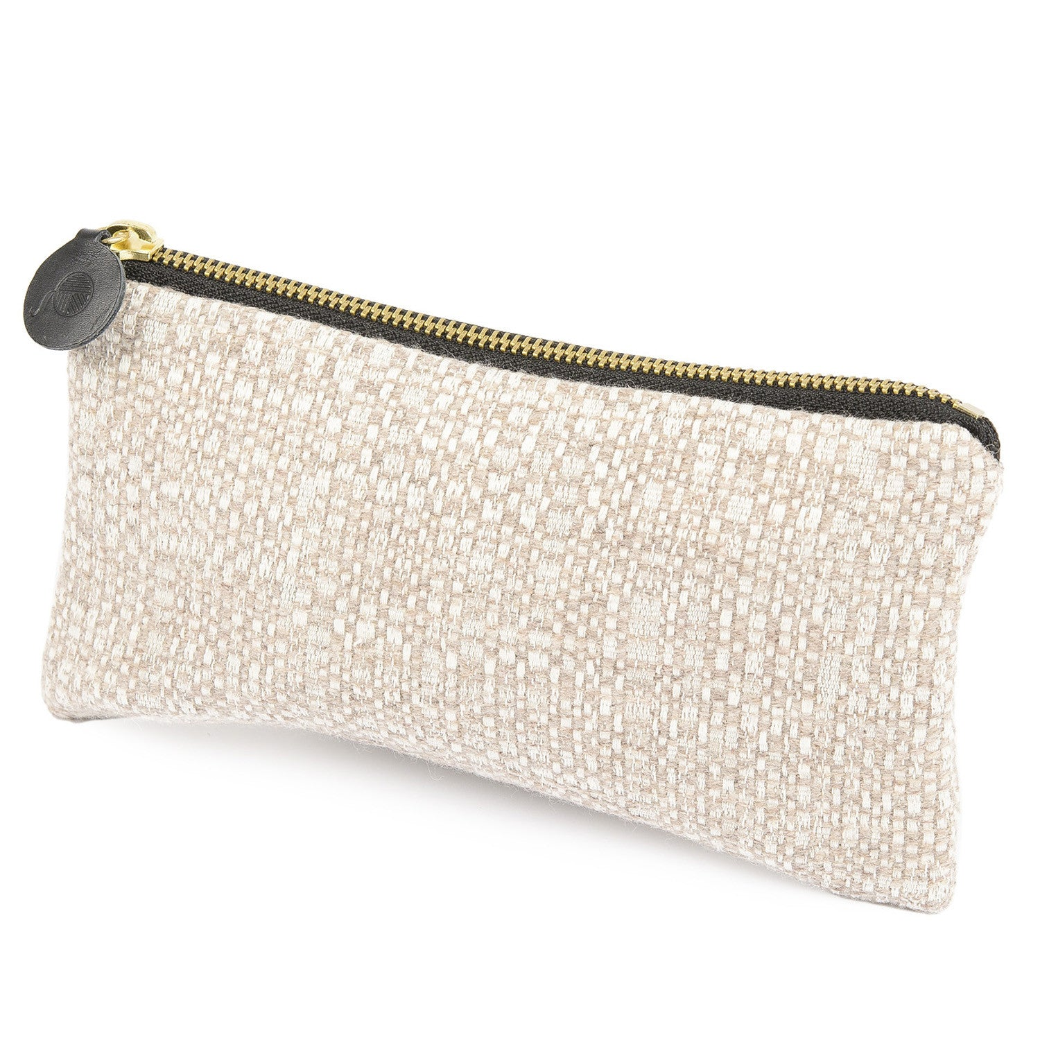 Merino Lambswool Zip Purse - Cove Mushroom - Tori Murphy Ltd
