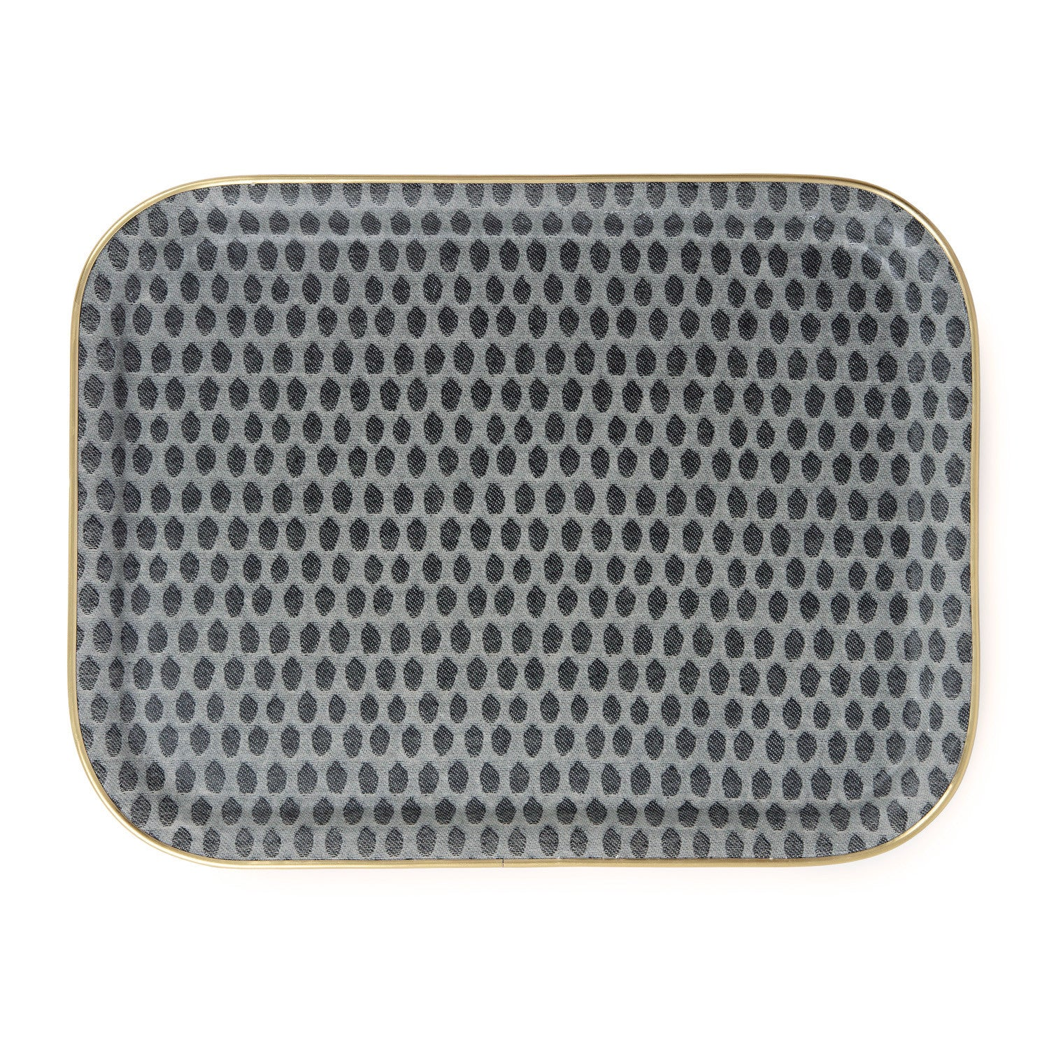 Rectangle Serving Tray-Black on Linen | Tori Murphy