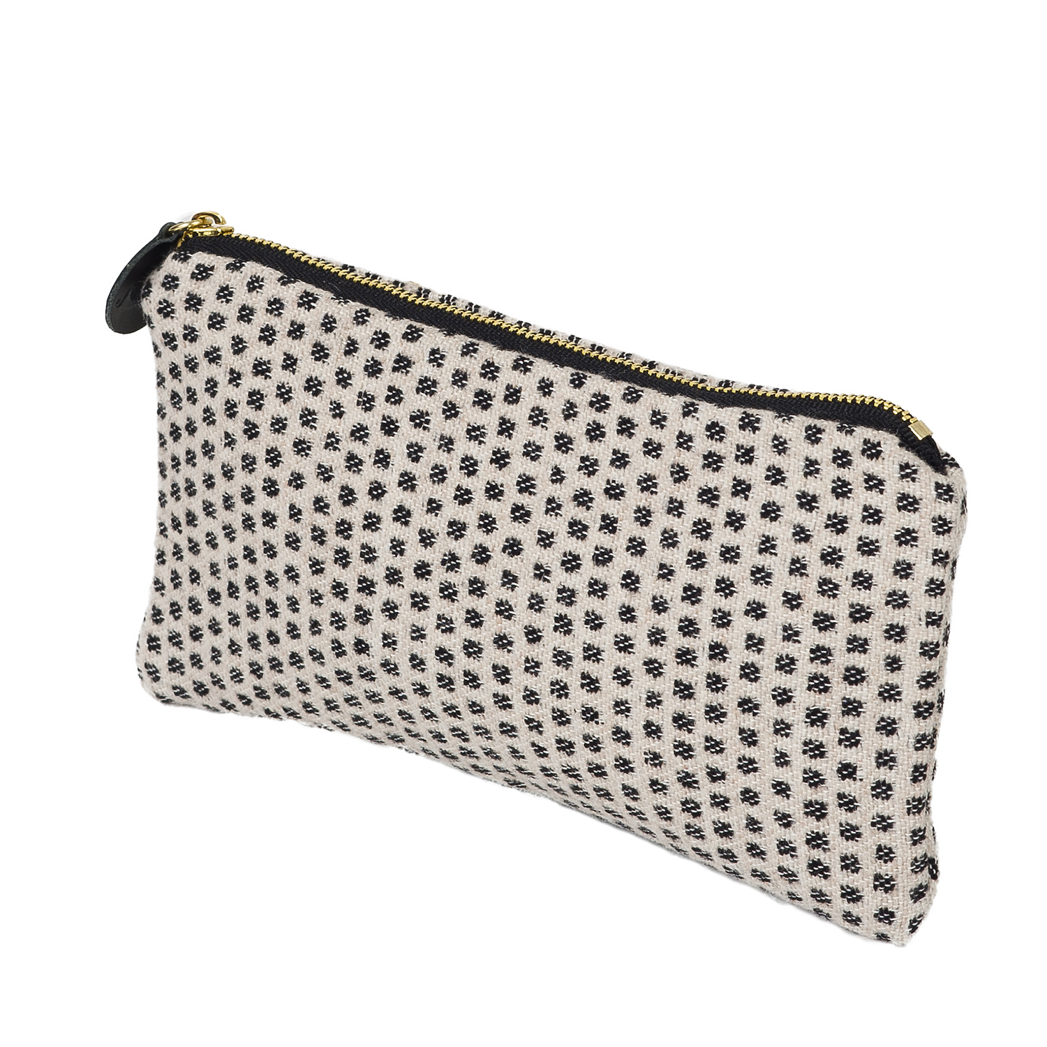 Merino Lambswool Zip Purse - Classic Clarendon Black/Grey- Tori Murphy