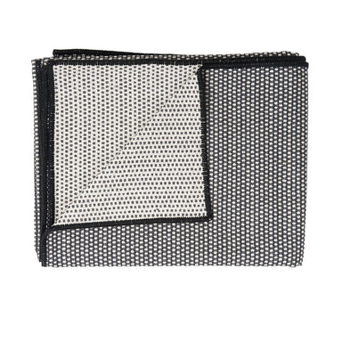 Classic Clarendon Throw Black and Linen