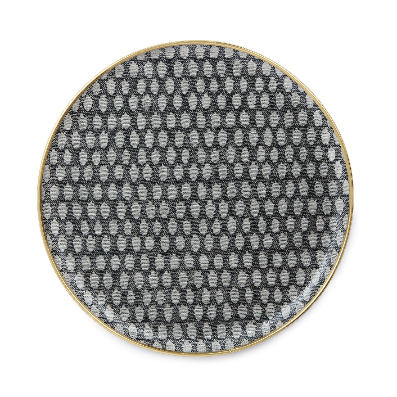 Round Serving Tray-Black on Linen | Tori Murphy