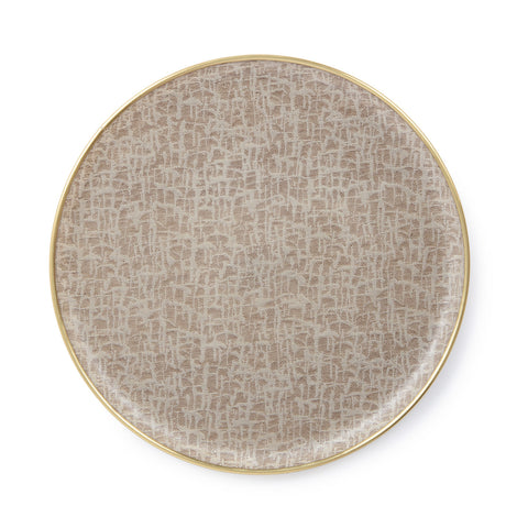Round Serving Tray-Fawn and Linen | Tori Murphy
