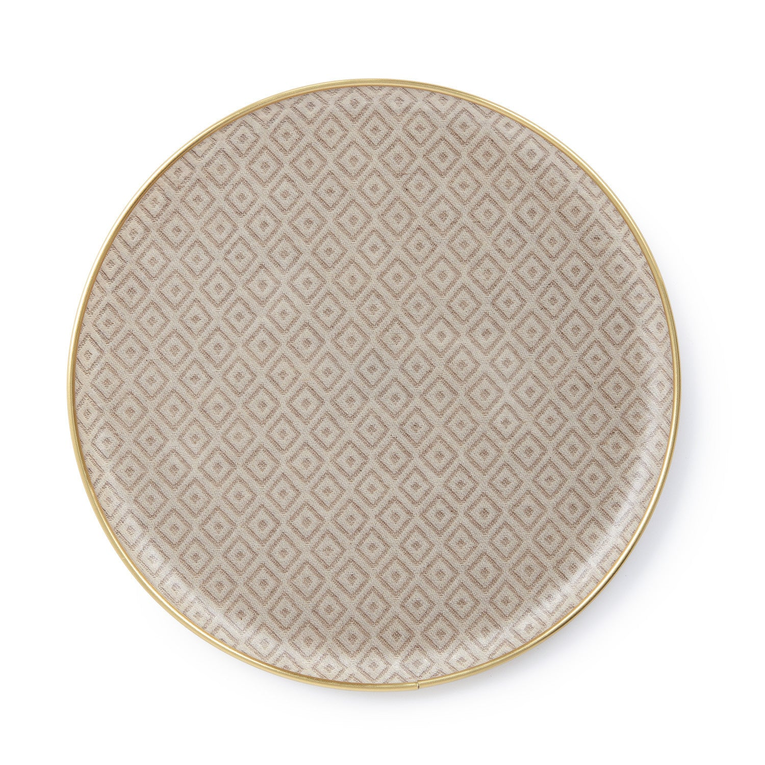 Round Serving Tray-Linen on Fawn | Tori Murphy