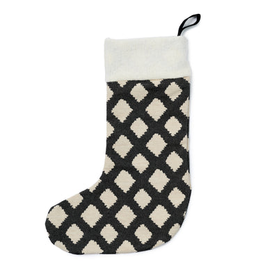 Cadogan Check Christmas Stocking Black