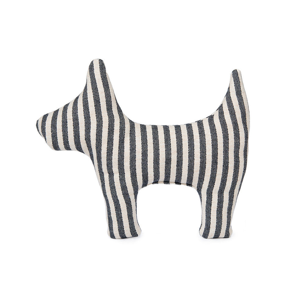 Rudy the Dog Cushion Harbour Stripe | Tori Murphy