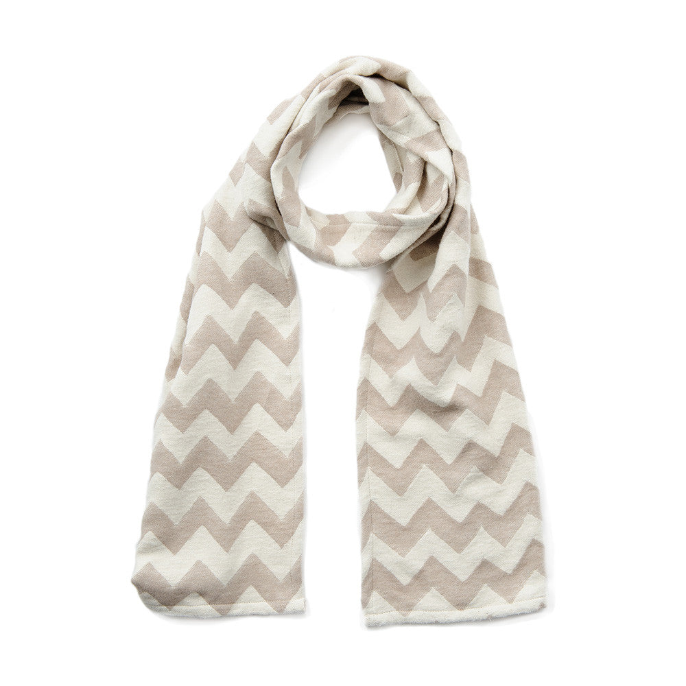 Chevy Brushed Cotton Scarf Fawn and Ecru | Tori Murphy