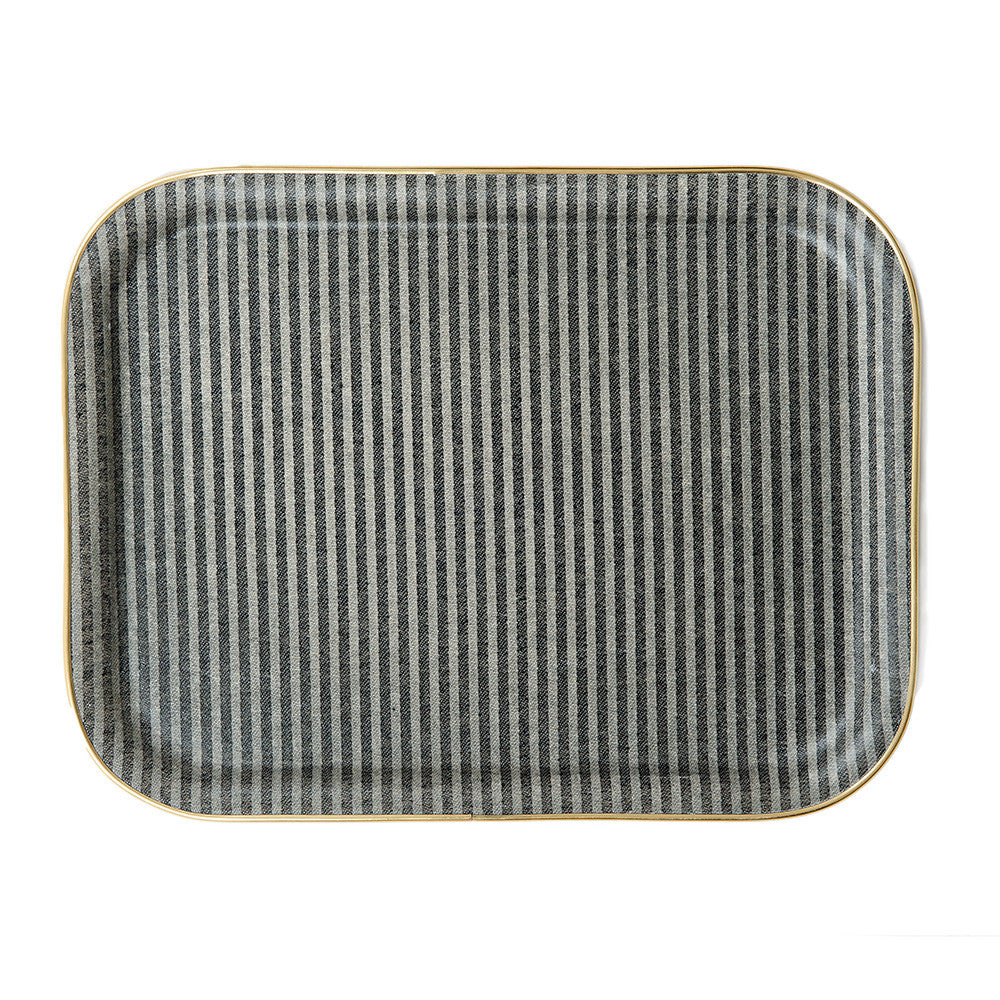 Rectangle Serving Tray-Black and Linen | Tori Murphy