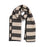 Fastnet Stripe Reversible Merino Wool Scarf Black