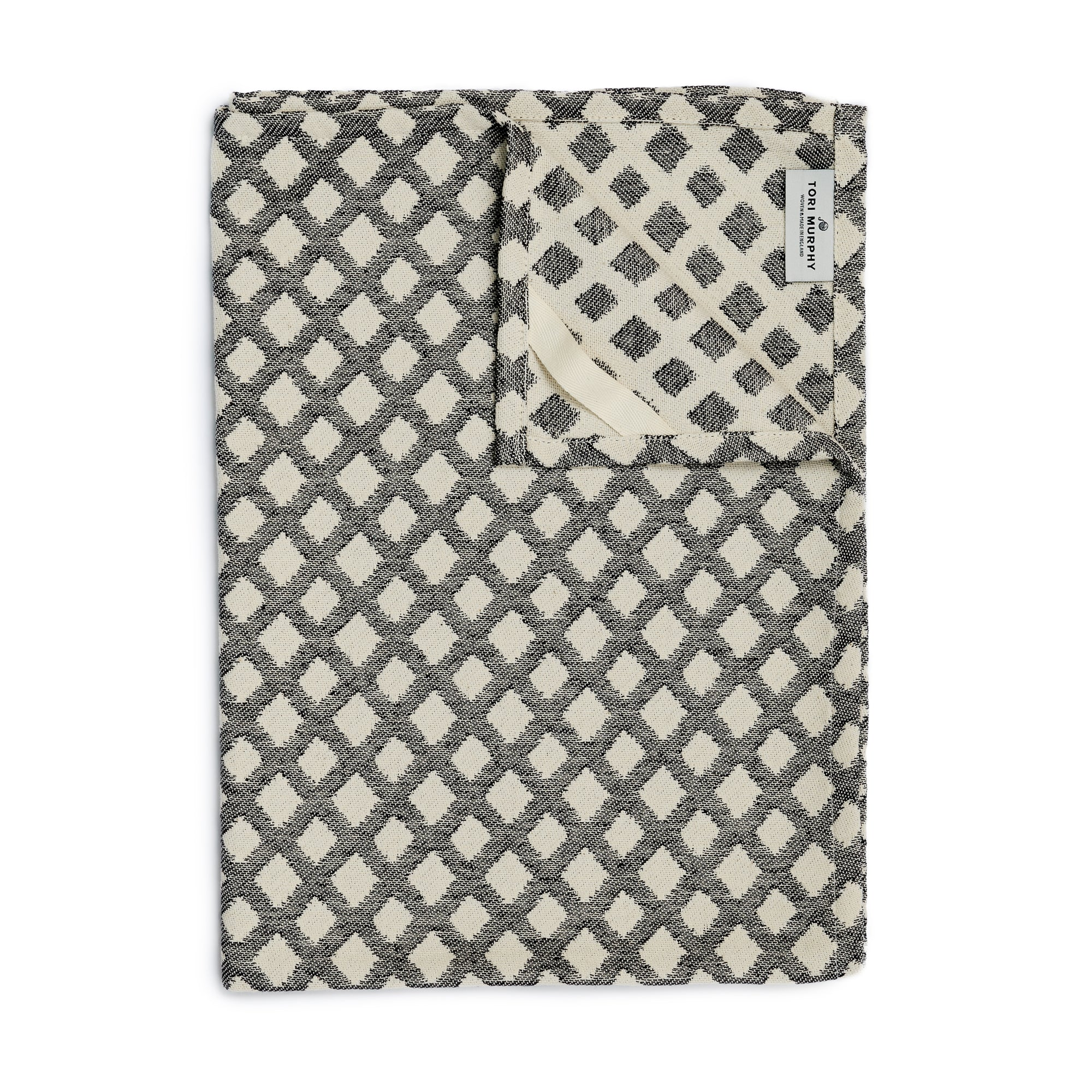 Cadogan Check Tea Towel Black
