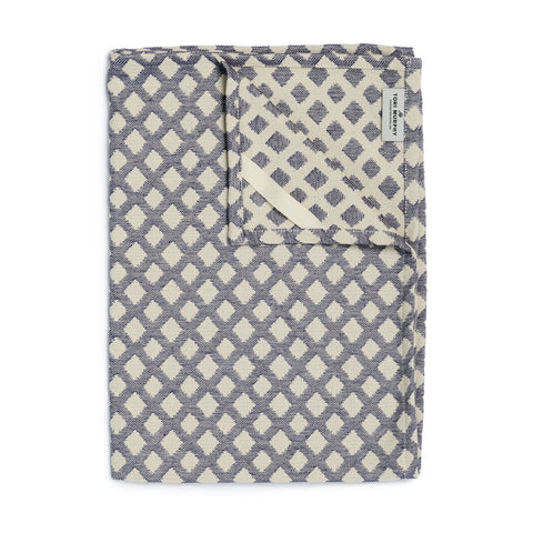 Cadogan Check Tea Towel Navy