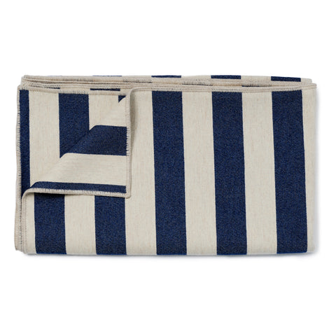 Fastnet Stripe Throw Navy