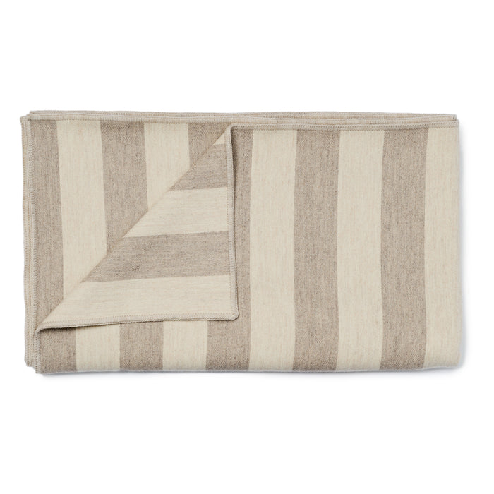 Fastnet Stripe Throw Mushroom