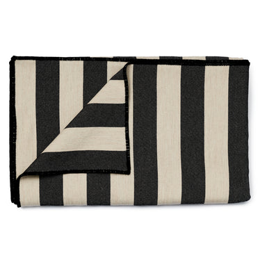 Fastnet Stripe Throw Black
