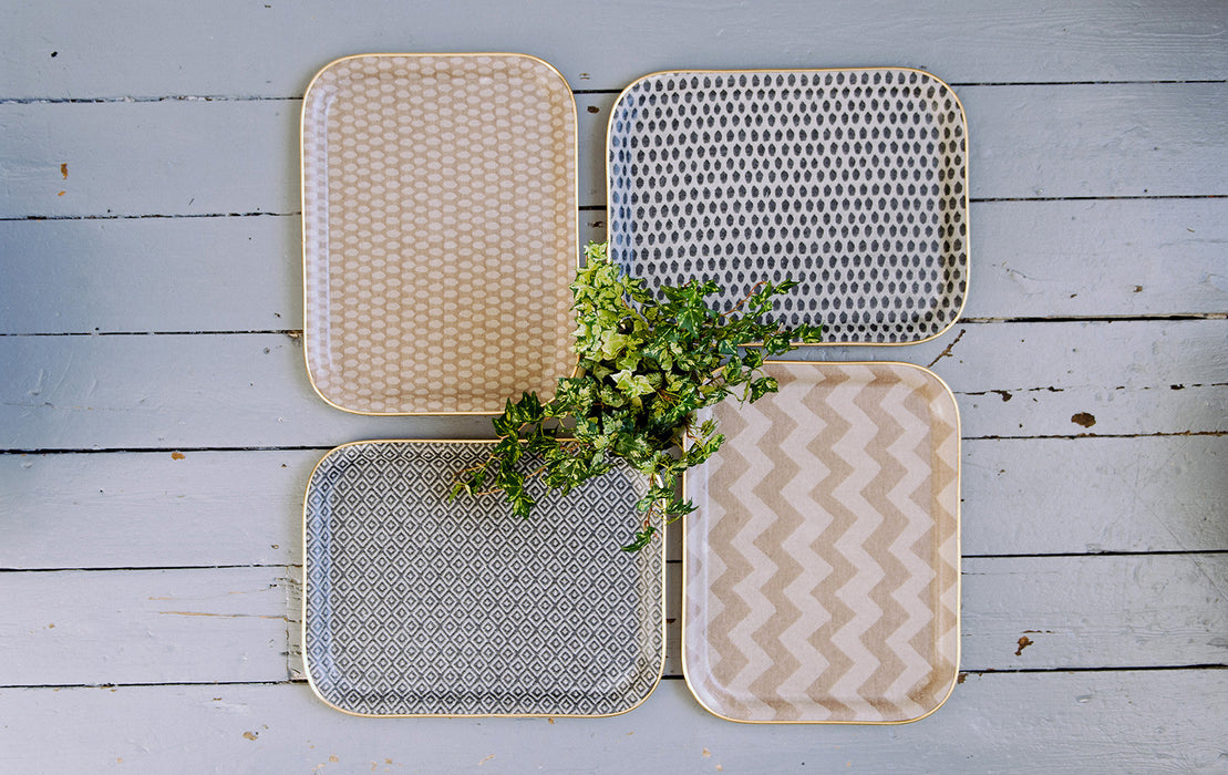 Chevy Rectangle Tray - Fawn and Linen