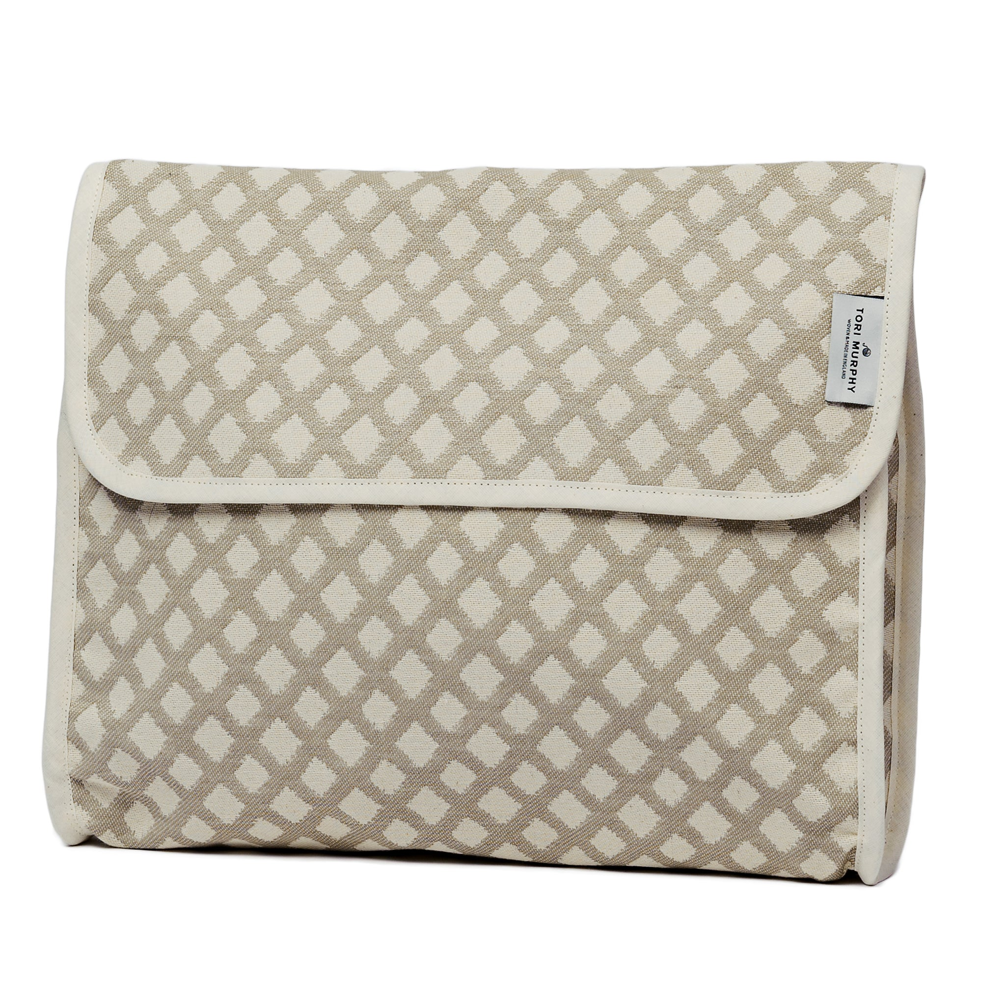 Cadogan Check Original Wash Bag Mushroom