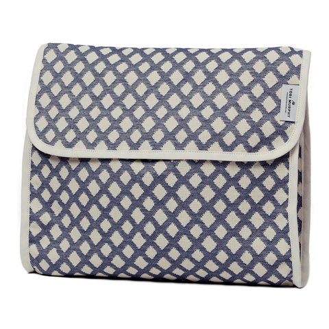 Cadogan Check Original Wash Bag Navy
