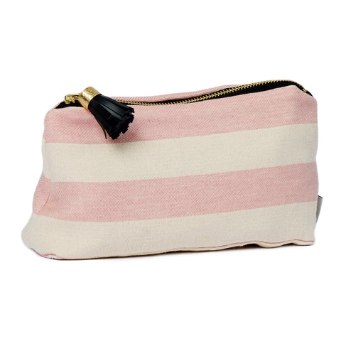 Fastnet Stripe Small Wash Bag Rose