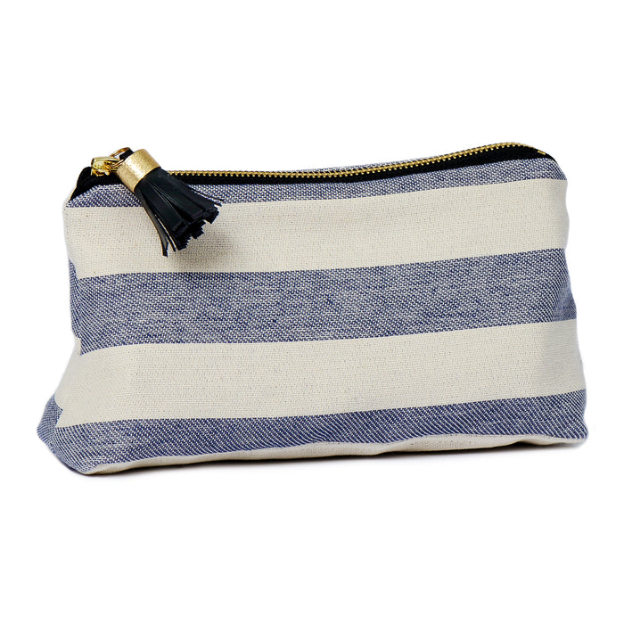 Fastnet Stripe Small Wash Bag Navy