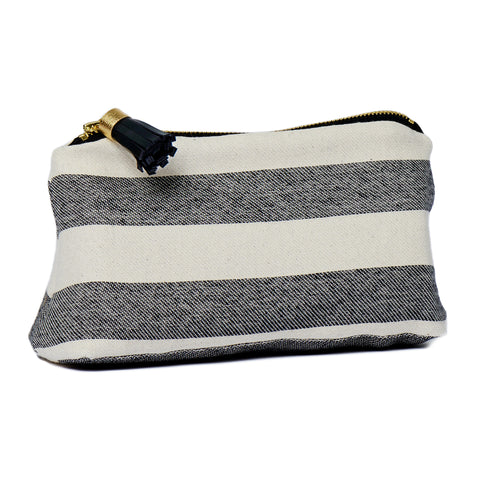 Fastnet Stripe Small Wash Bag Black