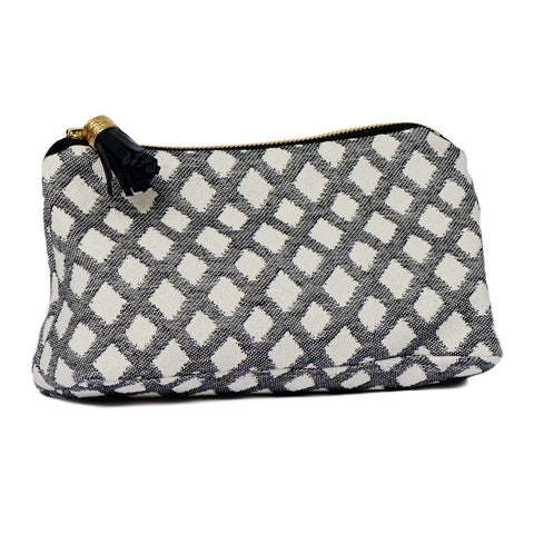 Cadogan Check Small Wash Bag Black
