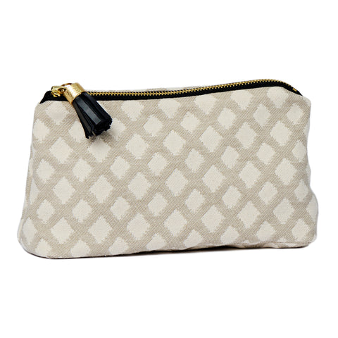 Cadogan Check Small Wash Bag Mushroom