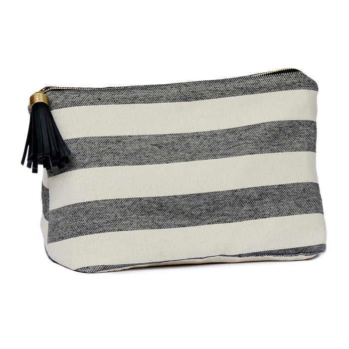 Fastnet Stripe Large Wash Bag Black