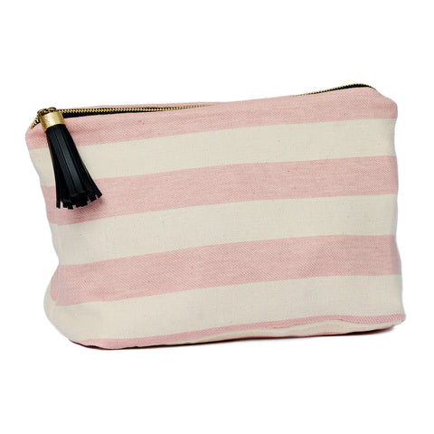 Fastnet Stripe Large Wash Bag Rose