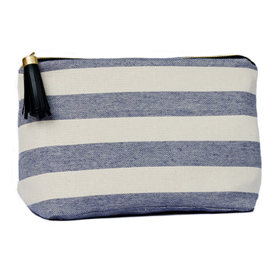 Fastnet Stripe Large Wash Bag Navy