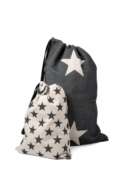Antares Star Santa Sack Small Black on Linen