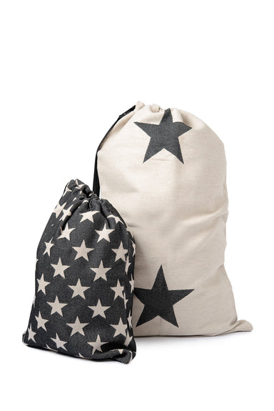 Antares Star Santa Sack Large Black on Linen