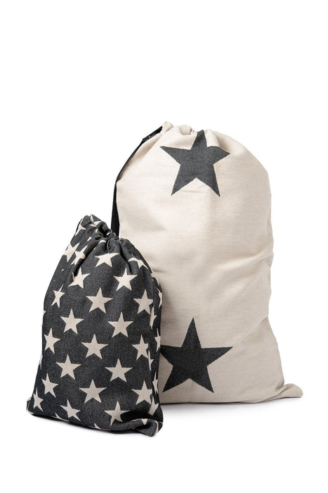 Antares Star Santa Sack Large Linen on Black