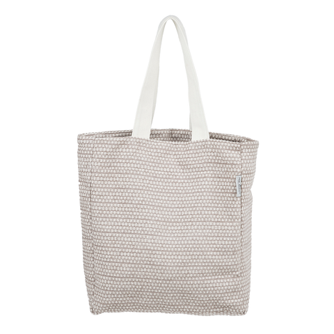 Cotton Chenille Shopping Tote Bag-Classic Clarendon Fawn and Linen Shopping Tote-Tori Murphy Ltd