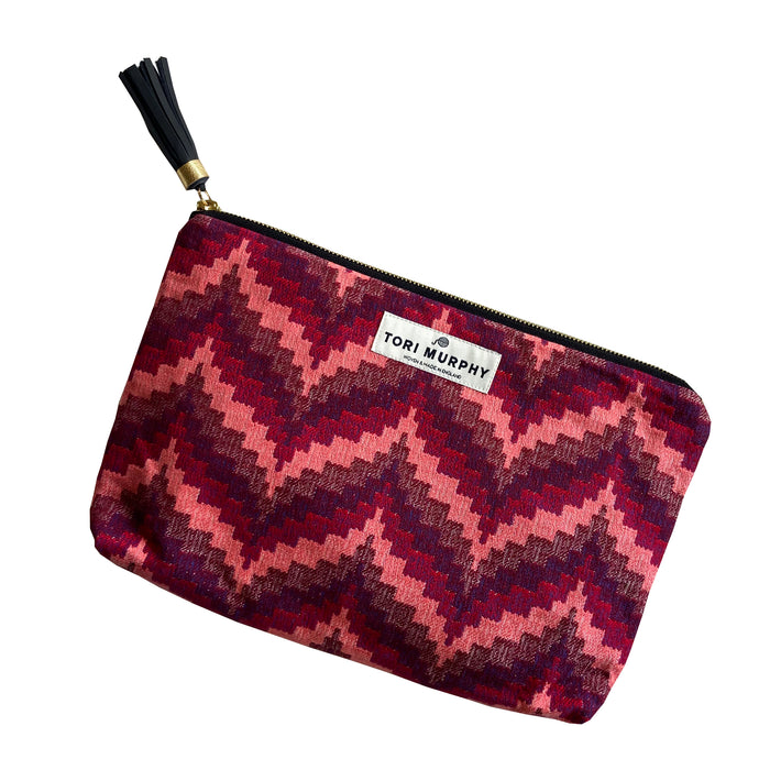 Abbey Florentine Clutch Bag in Red