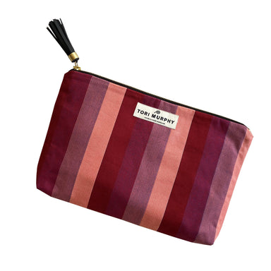 Blazer Stripe Clutch Bag in Red
