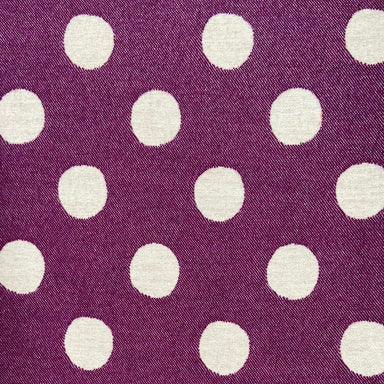 Dotty Spot Wool Fabric Hyacinth