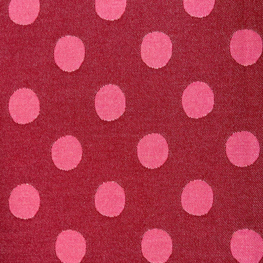 Dotty Spot Wool Fabric Red & Pink