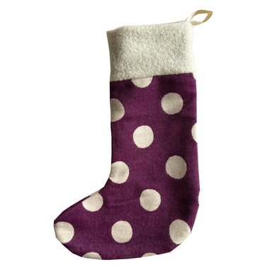 Dotty Spot Christmas Stocking Hyacinth
