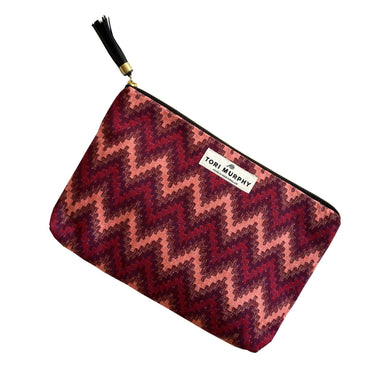Repton Chevron Clutch Bag in Red