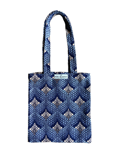 Tapestry Tote Bag Navy