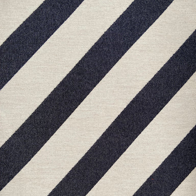 Totto Stripe Wool Fabric Black