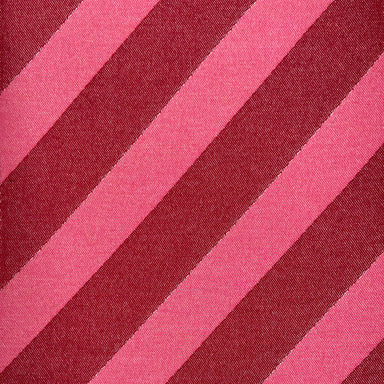 Totto Stripe Wool Fabric Red & Pink