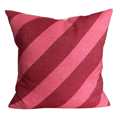 Totto Stripe Cushion Red & Pink