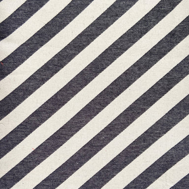 Totto Stripe Cotton Fabric Black